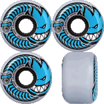 Spitfire Charger Conical 58mm Clear Blue 80a Skateboard Wheels