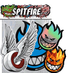Spitfire Big Head Sticker 4 Pack