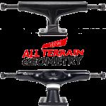 "Tensor MAGLight ATG 5.75"" Black Skateboard Trucks"