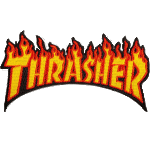 "Thrasher Flame 4.5"" Patch"