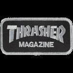 Thrasher Logo Black Silver Patch