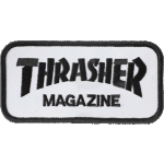 Thrasher Logo White Black Patch