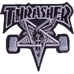 Thrasher Skategoat Black White Patch