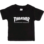 Thrasher Skate Mag Infant Tee Black White