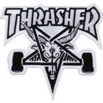 Thrasher Skategoat White Black Patch