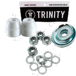 Trinity Truck Repair Kit White 100a Bushings Nuts & Washers Pack