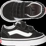 Vans Toddler Old Skool Velcro Black Shoes  Shoes