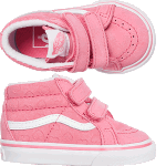 Vans Toddler Sk8-Mid Velcro Pink Hearts Skate Shoes