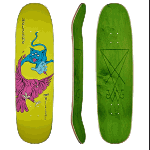 "Welcome Chris Miller Prequel on Catblood 2.0 Neon Yellow 8.75"" Skateboard"