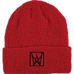 Welcome Icon Ripped Red Black Beanie