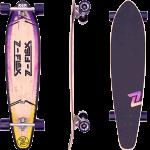 """Z-Flex Roundtail Pop Purple Fade 39.5"""" Longboard Complete"""